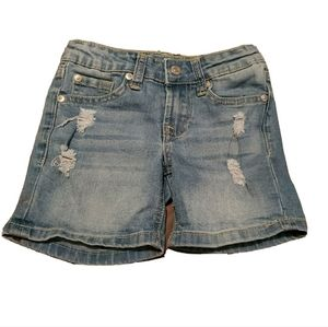 7 for all mankind Girl's Distressed Jean Shorts